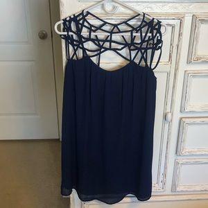 Naked Zebra Dresses - Naked Zebra Navy Blue Cage Dress NWT